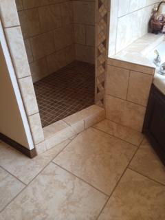 Afte new tile was installed