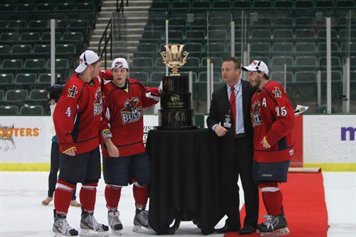 Captains with Robertson Cup