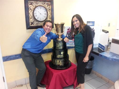 Robertson Cup Trophy at Amarillo National Bank