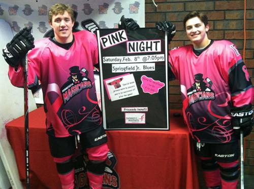 Colin Hernon and Mario Bianchi sporting their Komen jerseys.