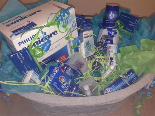 Refer a new patient and be entered to win this gift basket