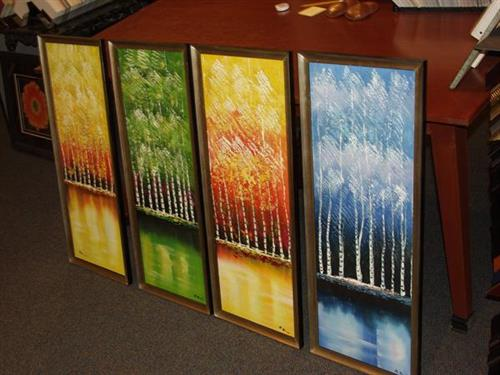 Four Seasons Canvas Stretch and Framed