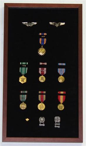Military Medals displayed in prescribed manner