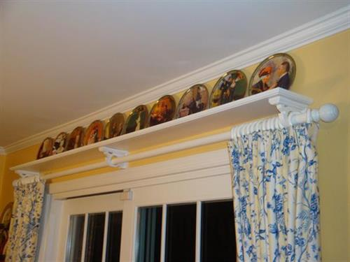 Custom Drapery & Shelf Design/Installation