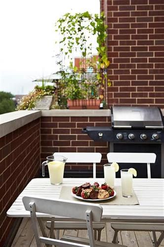 Grill on your private balcony at The Guesthouse Hotel Chicago