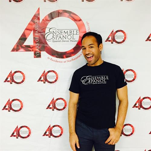 Jose Torres, Principal Dancer of the Ensemble Espanol Spanish Dance Theater posing for our 40th Season Kick Off!