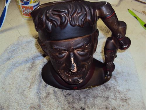 Fire Damaged mug before