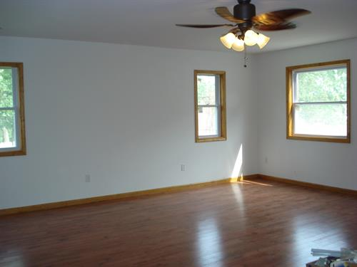 Fire Damage Living Room after