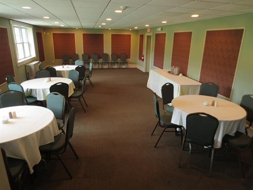 Our small function hall is perfect for Showers, Birthdays, Business Meetings ...  Holds up to 70 people