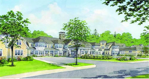 Architectural rendering of new Scott-Farrar at Peterborough community
