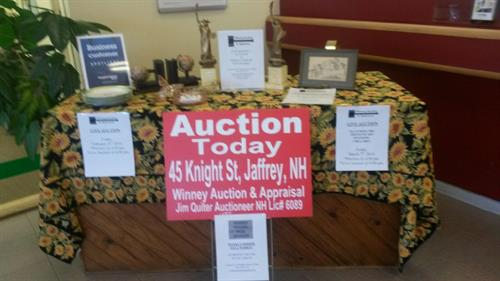 Feb. 2014 Business of the Month displayWinney Auction & Appraisal