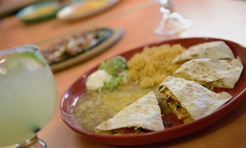 Quesadilla from the Menu