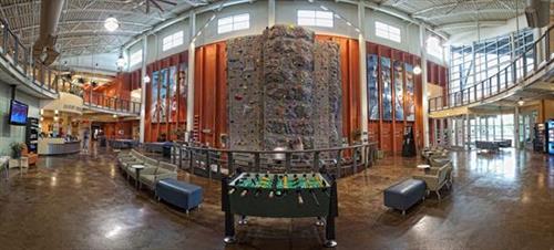 Lobby and Climbing Wall