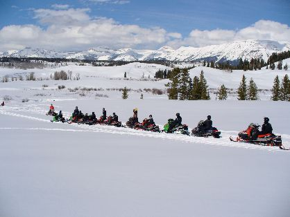 Snowmobile - Sublette County, Wyoming
