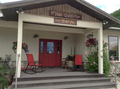 Hair Outfitter & Spa entrance.