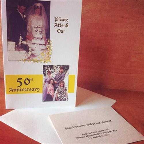 Anniversary Party Invitations - design, printing