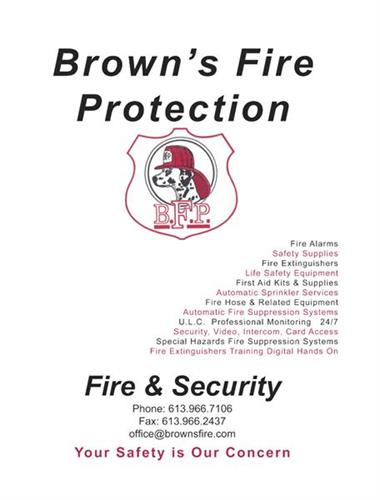 Brown's Fire Protection Folders - design, printing