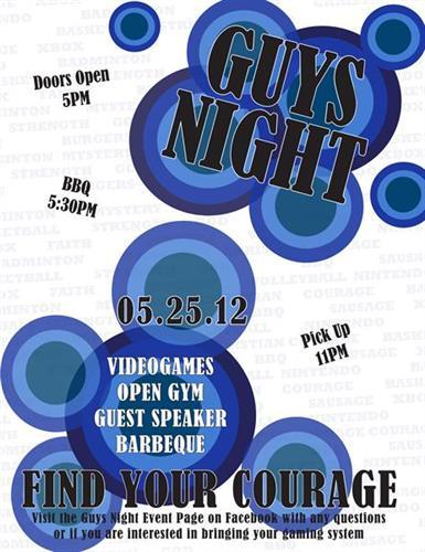 """Guys Night"" Poster - design, printing"