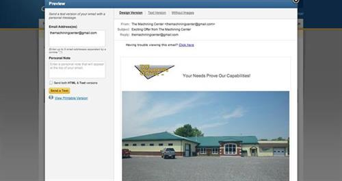 The Machining Center Social Media - setup, implementation, training, monthly updates