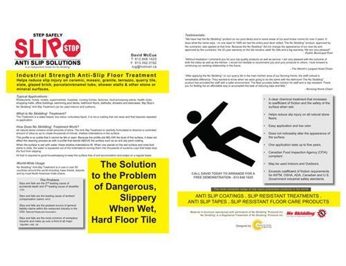 Slip Stop Flyers - design, printing