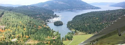 Natural protection in the southern end of Maple Bay.