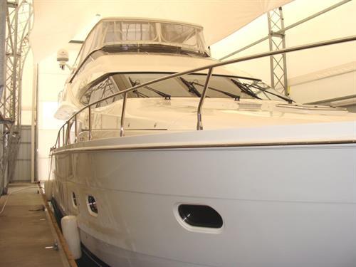Bright interior of Yacht Enclosure