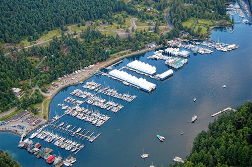 Maple Bay Marina and The Rise on Maple Bay