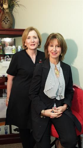 Dr. McRae and Lyn Augello our Aesthetician