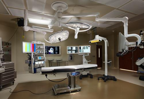 "The neuro suite offers 3D image-guided technology so the surgeon has improved visualization during surgery and the ability to navigate through critical brain anatomy and spinal structures while minimizing contact with ""uninvolved"" tissue."