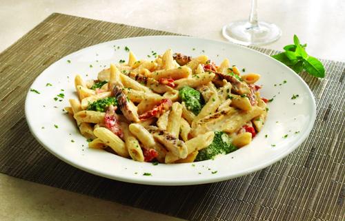 Spicy Chicken and Broccoli Alfredo Pasta!