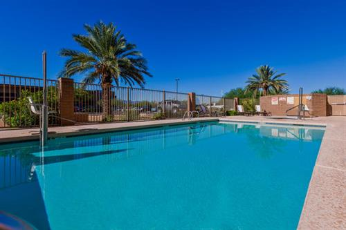 Relax by the Heated Pool or Take a Soak in the Hot Tub