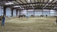 Indoor arena riding area