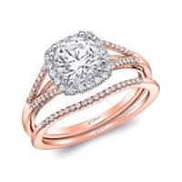 14k Rose Gold Wedding Set by Coast Diamond