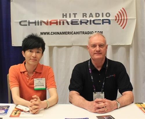 Bo Qiao & Steve Warren at Broadcasters Conference in Las Vegas