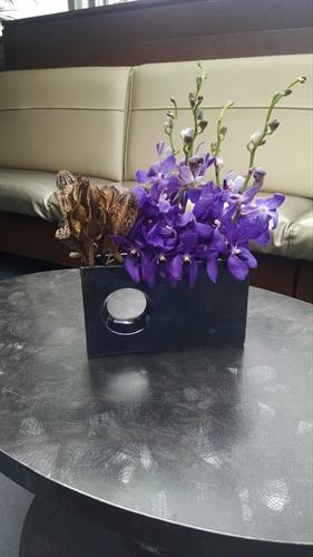 Sleek Table Arrangement Sept 26, 2015