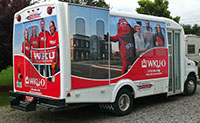 Wrap sides of bus - Marketing