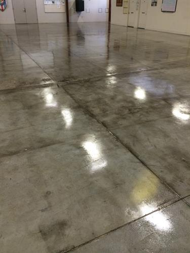 This is a clear coat sealant on raw concrete.
