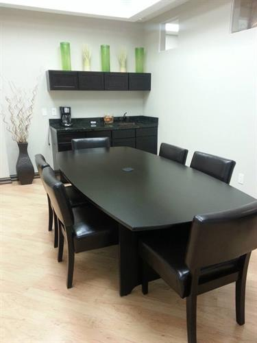 Spacious, modern conference rooms avaible by appointmment daily. Includes phone and video conferencing.