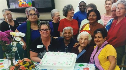 Sister Helen Lange of Holy Name Monastery 102 Birthday Celebration 2015