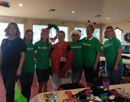 The District 38 Team was out supporting a great cause this morning. Thirteen year old Sally Campbell hosted her Sallybrating with SOCKS Christmas Golf Tournament today helping cancer patients across the United States! Keep up the great work Sally, we are very proud of you!