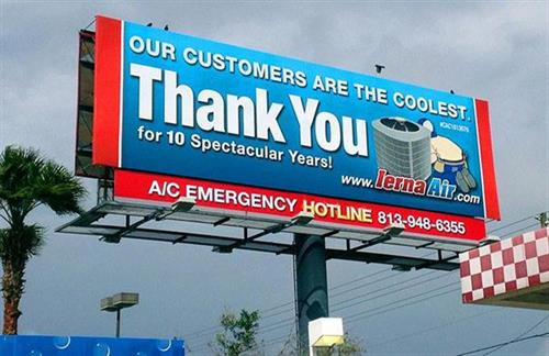 "New Billboard ""Thank You"""