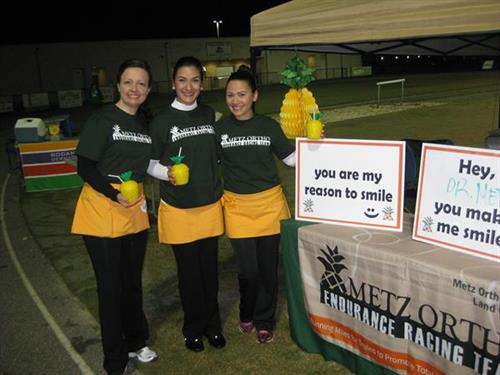 Amy, Marwa and Rita support the 2013 Spring Sprint