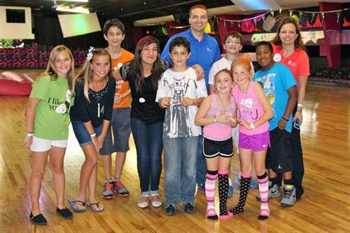 Roller skating with finalists in our Summer Scavenger Hunt.