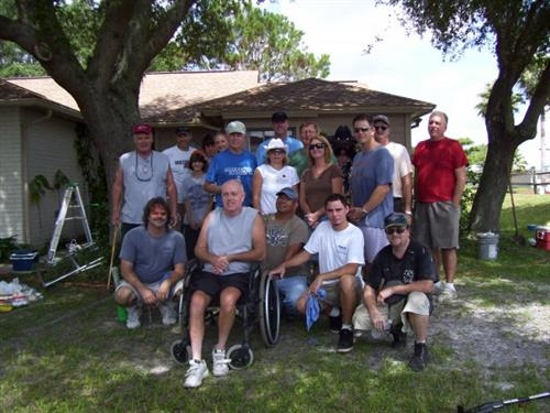 Operation Helping Hand: House painting for a veteran in need.