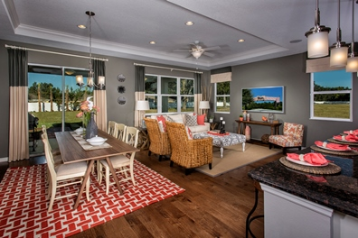 The Woodlands Model - Plan 2293 Great Room