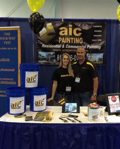 AIC Painting representing at the Community Fun Day
