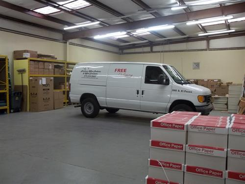 Our warehouse at 301 N. 17th Street, Suite G