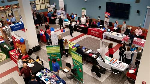 The New Mexico State University Career Services Career Fair at the Corbett Center Student Union. Corbett Center offers a diverse array of meeting spaces for a variety of functions.