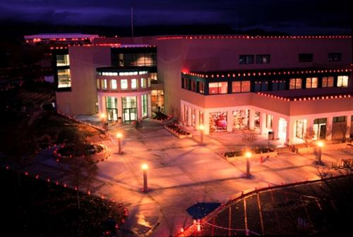 The New Mexico State University Corbett Center Student Union during the holiday season.
