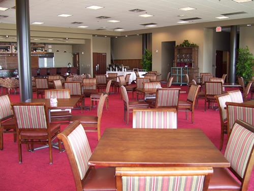 New Mexico State University Fulton Center's Danny Villanueva Victory Club on the third floor offers an exclusive dining and reception venue with panoramic views of Aggie Memorial Stadium and the Organ Mountains.